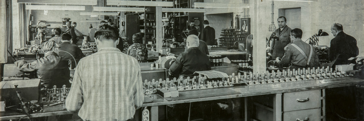 Solenoid manufacturing about 1955
